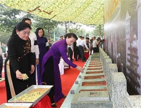 Tây Ninh : Nguyên Thi Kim Ngân à l'enterrement de restes de morts pour la Patrie - ảnh 1