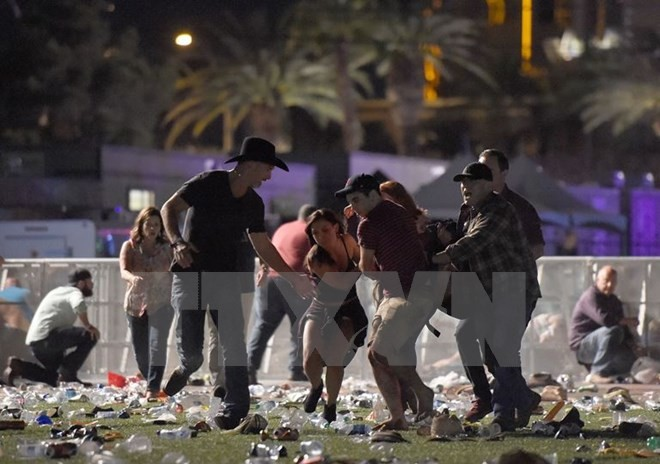 World leaders condemn mass shooting in Las Vegas - ảnh 1