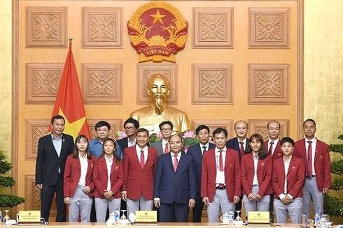 Nguyên Xuân Phuc rencontre la délégation vietnamienne aux ASIAD 18 - ảnh 1