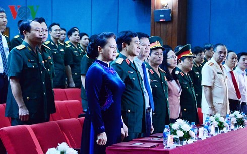 Nguyên Thi Kim Ngân à la rentrée des classes de l'Académie de la défense - ảnh 1