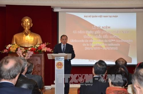 Vietnam's Embassy in France celebrates 41st National Reunification Day - ảnh 1