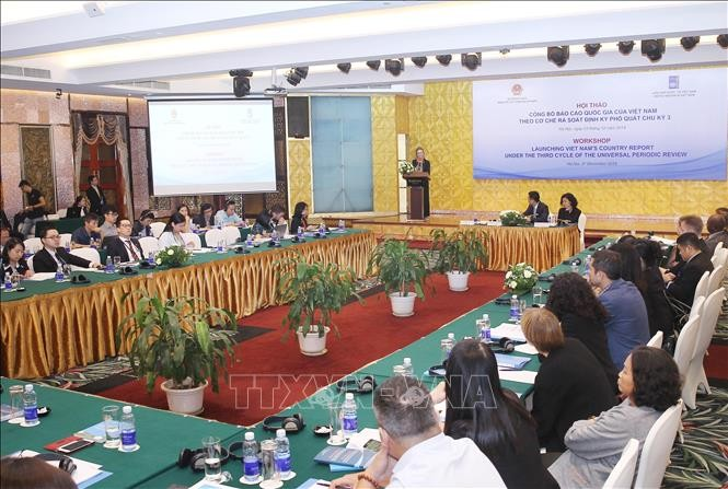 Vietnam's report on human rights records announced - ảnh 1