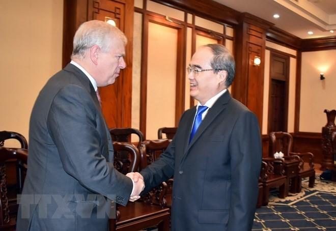 Duke of York welcomed in Ho Chi Minh City - ảnh 1