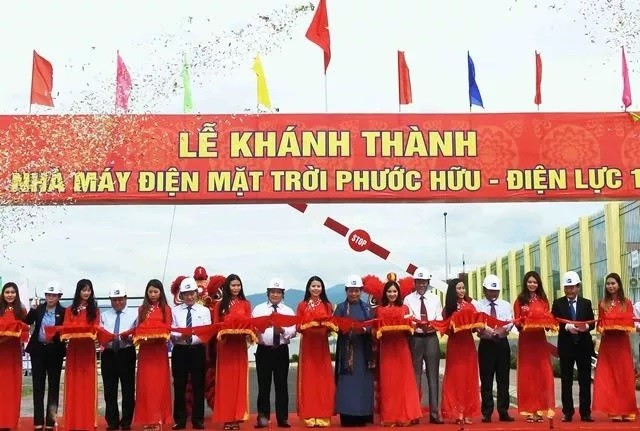 Major solar power plant inaugurated in central Vietnam - ảnh 1