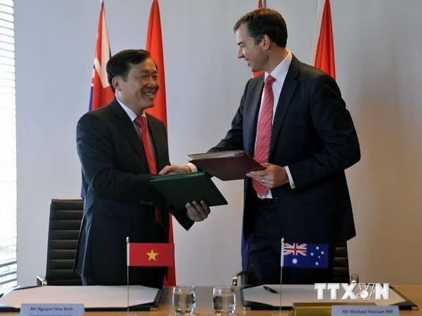 Vietnam und Australien unterzeichnen das Rechtshilfeabkommen in Strafsachen - ảnh 1