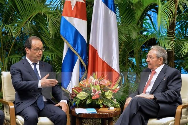 Der französische Präsident beendet seinen historischen Besuch in Kuba - ảnh 1