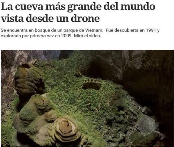 Argentinische Zeitungen loben die Schönheit der Höhle Son Doong - ảnh 1