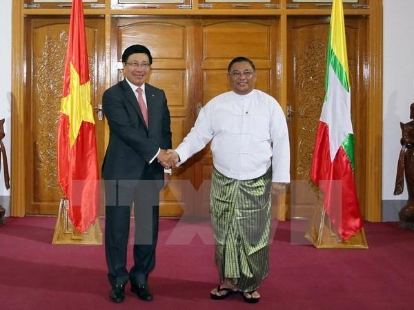 Vietnam und Myanmar verstärken die Kooperation in vielen Bereichen - ảnh 1