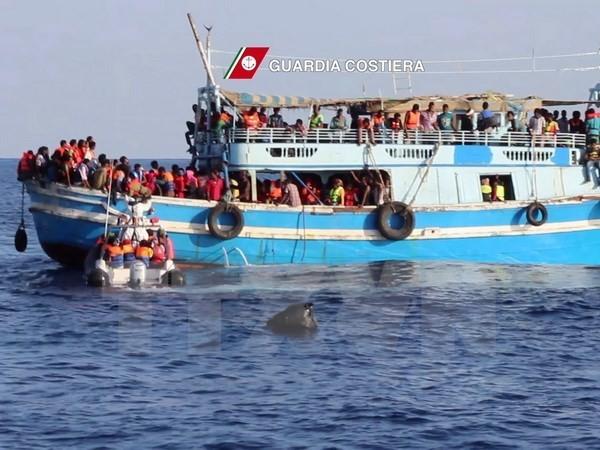 Spanien und Italien retten hunderte Flüchtlinge auf dem Meer - ảnh 1