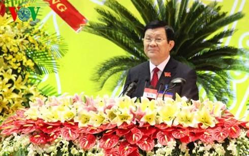 Staatspräsident Truong Tan Sang nimmt an der Sitzung der Parteileitung in Binh Duong teil - ảnh 1
