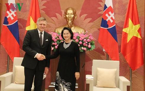 Die Spitzenpolitiker Vietnams treffen den slowakischen Premierminister Robert Fico - ảnh 2