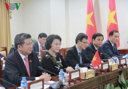 Parlamentspräsidentin Nguyen Thi Kim Ngan beendet ihre Dienstreise in einigen ASEAN-Ländern - ảnh 1
