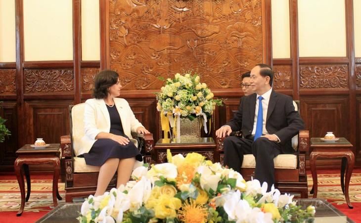 Staatpräsident Tran Dai Quang empfängt neue Botschafter - ảnh 3