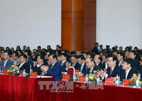 Der Premierminister nimmt an Konferenz der Staatsbank teil  - ảnh 1
