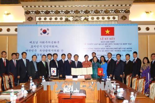 Ho Chi Minh Stadt und die südkoreanische Stadt Busan fördern die Freundschaft und Zusammenarbeit - ảnh 1