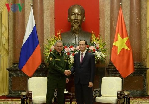 Staatspräsident Tran Dai Quang empfängt den russischen Verteidigungsminister - ảnh 1