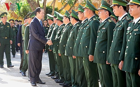 Staatspräsident Tran Dai Quang besucht die Provinz Gia Lai  - ảnh 1