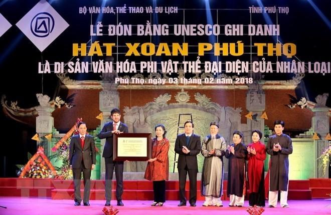 Urkunde für Xoan-Gesang in Phu Tho als immaterielles Kulturerbe der Menschheit ausgezeichnet - ảnh 1