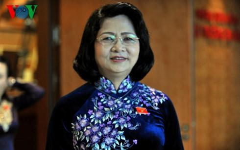 Vize-Staatpräsidentin Dang Thi Ngoc Thinh empfängt die Delegation der Unternehmer - ảnh 1
