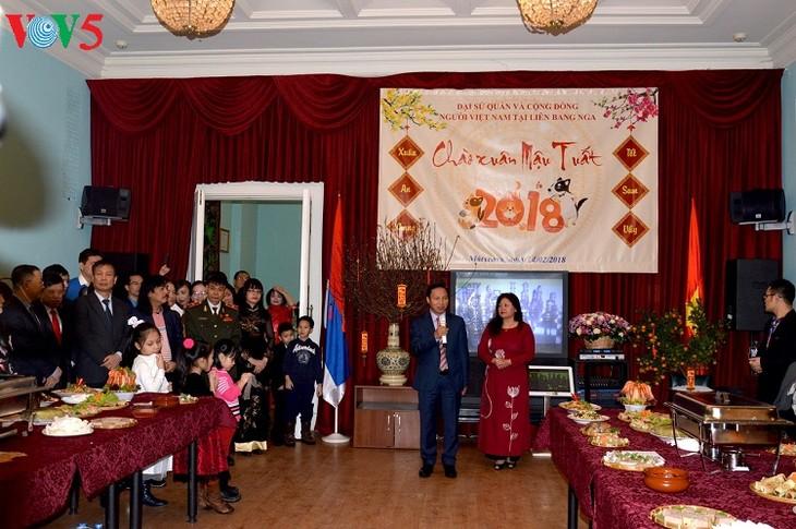 Die vietnamesische Botschaft in Russland organisiert ein Treffen zum Neujahrsfest  - ảnh 1