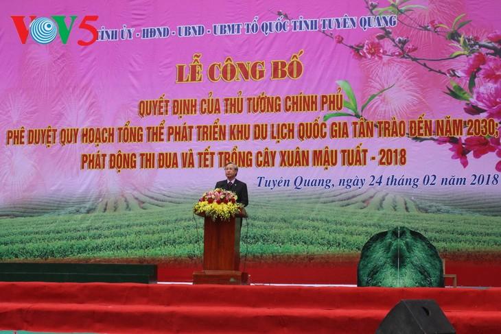 Der Plan zur Entwicklung des nationalen Tourismus-Gebiets Tan Trao in der Provinz Tuyen Quang - ảnh 1