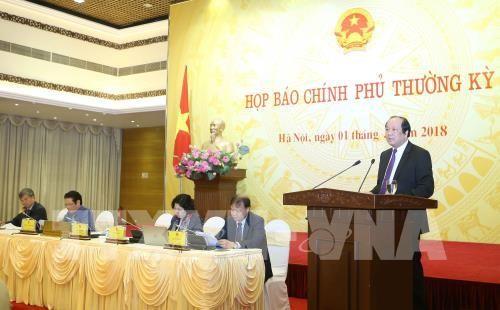 Pressekonferenz der Regierung: Zahlreiche große Fragen wurden gelöst - ảnh 1