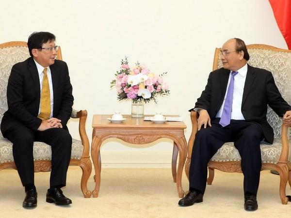 Premierminister Nguyen Xuan Phuc empfängt den Präsidenten des japanischen Sojitz-Konzerns - ảnh 1