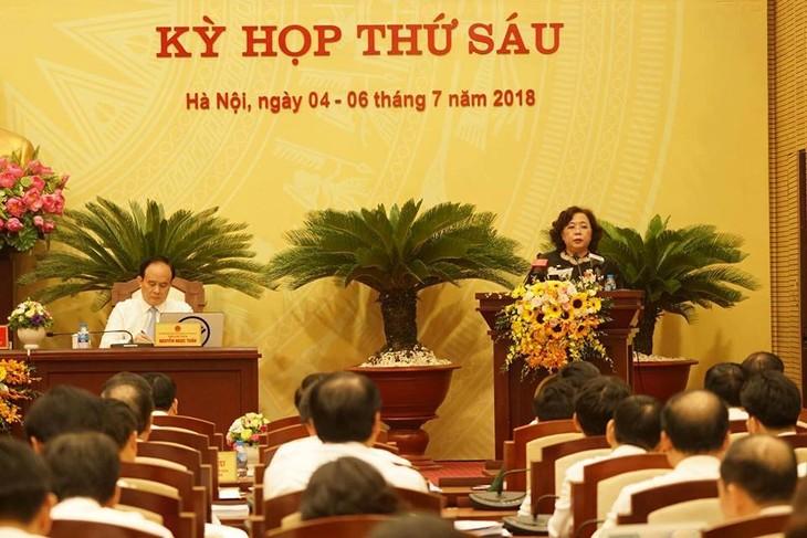 Abschluss der Sitzung des Volksrates von Hanoi - ảnh 1