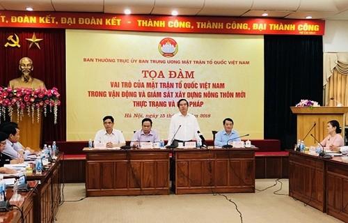 Die Rolle der Vaterländischen Front Vietnams bei Aufsicht der Neugestaltung der ländlichen Gebiete - ảnh 1
