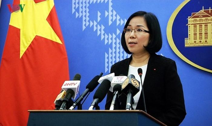Vietnam fordert den Stop der Manöver auf der Insel Ba Binh - ảnh 1
