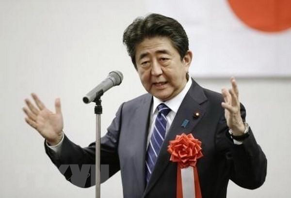 Der japanische Premierminister Shinzo Abe wird zum LDP-Vorsitzende wieder gewählt - ảnh 1