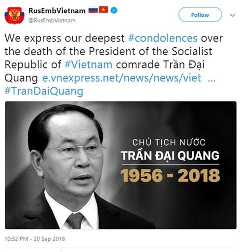 Der Tod des Staatspräsidenten Tran Dai Quang steht in den Schlagzeilen der internationalen Medien - ảnh 1