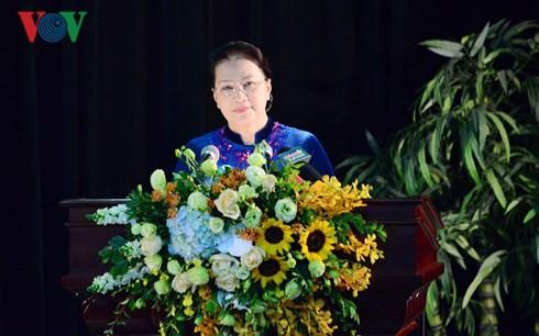 Parlamentspräsidentin Nguyen Thi Kim Ngan nimmt an Studienjahresbeginn-Feier in der Verteidigungsakademie teil - ảnh 1