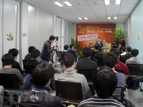 Vietnam und Japan treten im Wettkampf für Programmierung der künstlichen Intelligenz an - ảnh 1