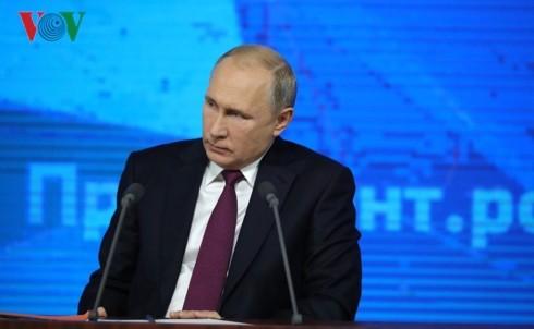Die jährliche Pressekonferenz des russischen Präsidenten Wladimir Putin  - ảnh 1