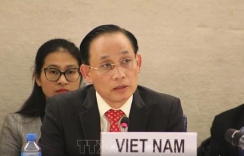UN-Menschenrechtsrat verabschiedet vorläufig das Ergebnis des vietnamesischen UPR-Verfahrens  - ảnh 1