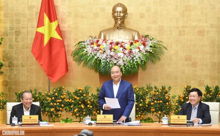 Pressekonferenz über die Regierungssitzung im Januar - ảnh 1