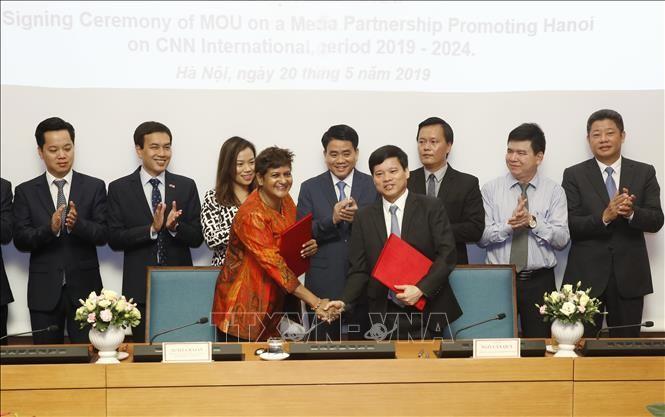 Verstärkung der Werbung für die Hauptstadt Hanoi im Fernsehsender CNN - ảnh 1