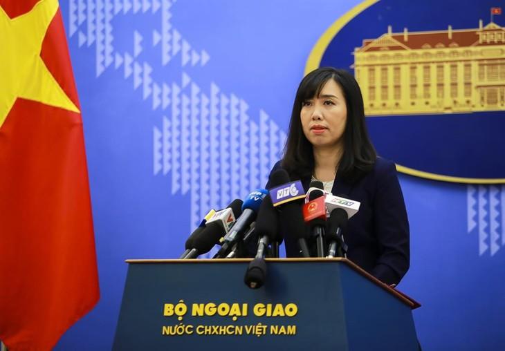 Vietnam protestiert gegen das chinesische Militärtraining im Gebiet der Inselgruppe Hoang Sa - ảnh 1