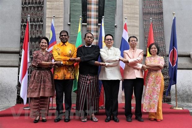 Feier zum 52. Gründungstag der ASEAN in verschiedenen Ländern - ảnh 1
