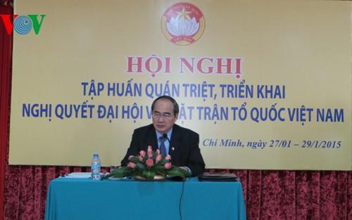 Ủy ban Trung ương Mặt trận Tổ quốc Việt Nam tổ chức triển khai Nghị quyết Đại hội lần thứ 8 - ảnh 1