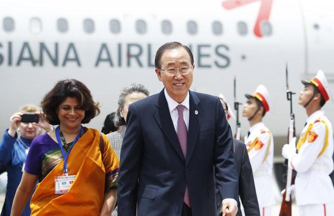 Chủ tịch nước Trương Tấn Sang hội kiến với Tổng thư ký Liên hợp quốc Ban Ki-moon  - ảnh 1