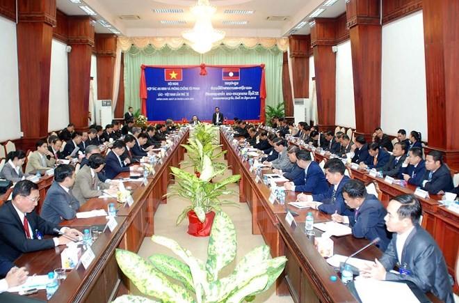 Khai mạc Hội nghị Hợp tác an ninh và phòng chống tội phạm Việt Nam - Lào  - ảnh 1