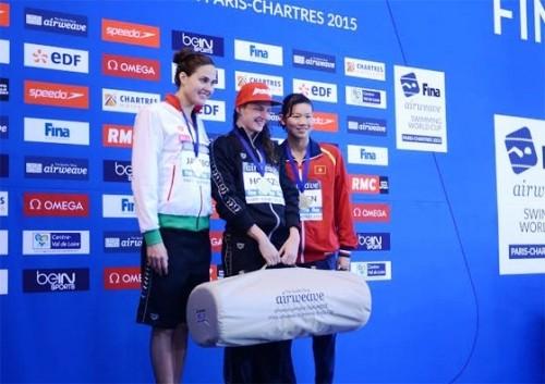 Nguyễn Thị Ánh Viên giành huy chương đồng Cup bơi lội thế giới - ảnh 1