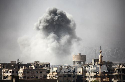 ВКС России уничтожили в Сирии крупнейший подземный арсенал «Джабхат ан-Нусры» - ảnh 1