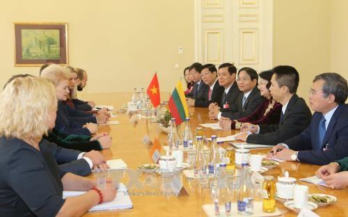 Вице-президент СРВ Данг Тхи Нгок Тхинь продолжает свой визит в Литву  - ảnh 1