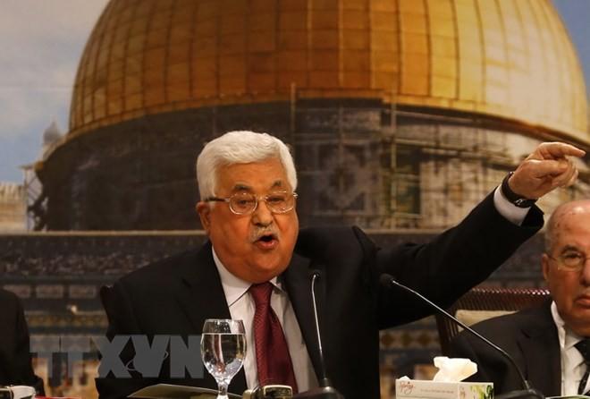 Председателем Организации освобождения Палестины переизбран Махмуд Аббас - ảnh 1