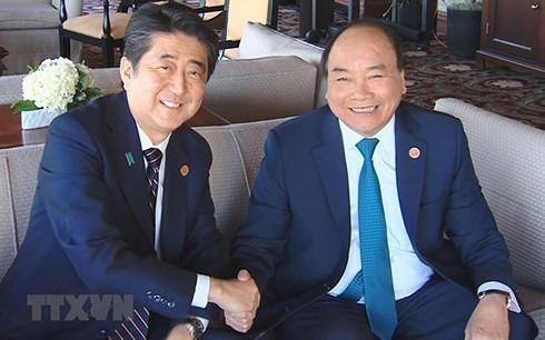 Премьер Вьетнама встретился с лидерами стран-участниц саммита G7 - ảnh 1