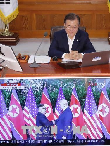 Президент Республики Корея выразил надежду на успех саммита США-КНДР - ảnh 1