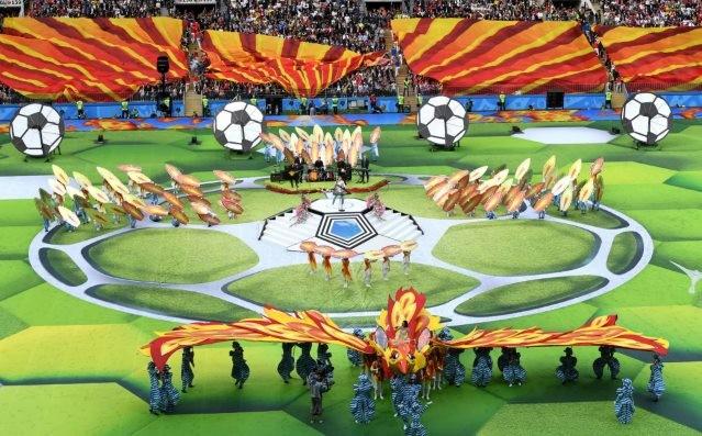 В Москве состоялась торжественная церемония открытия ЧМ по футболу 2018 - ảnh 1